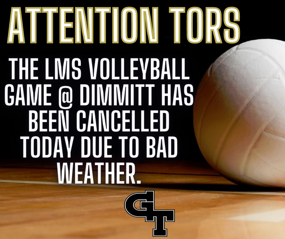 LMS Volleyball Cancellation
