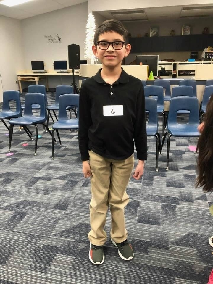 ....and our South Elementary Spelling Bee Winner Evander Soliz!