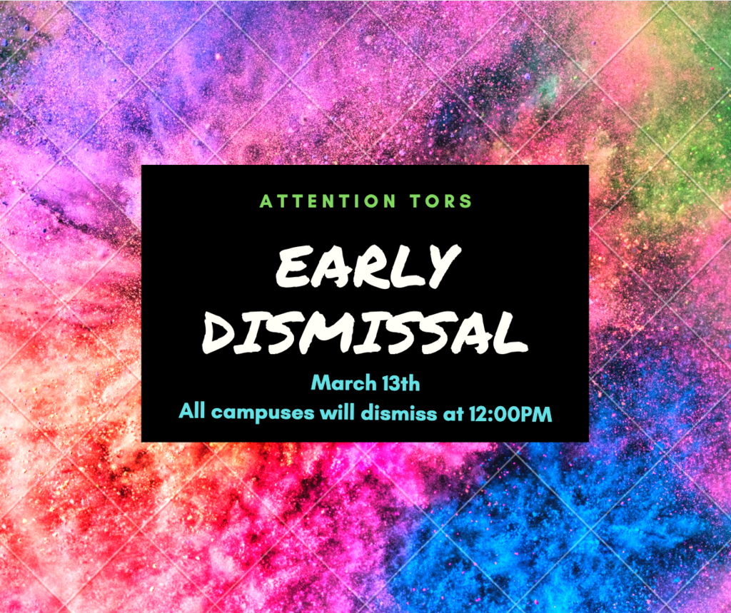 Early Dismissal 3/13