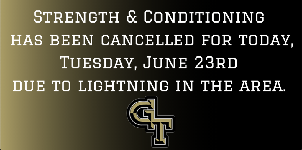 Strength & Conditioning Cancelled
