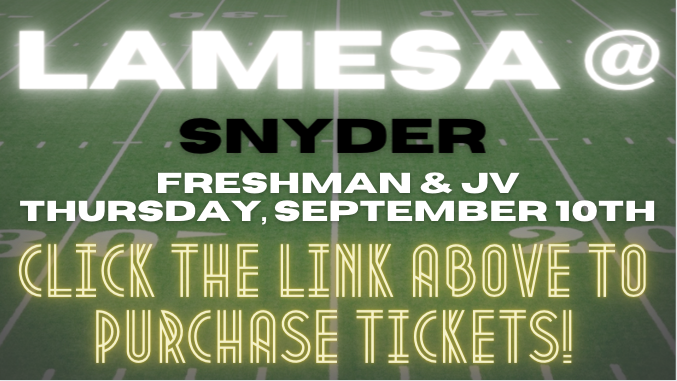 JV/9th Football @ Snyder Tickets